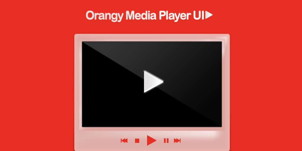 Free Orangy Media Player UI PSD