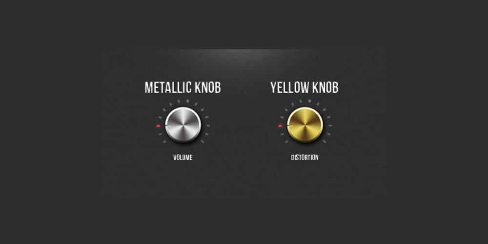 Free PSD Metallic Knobs