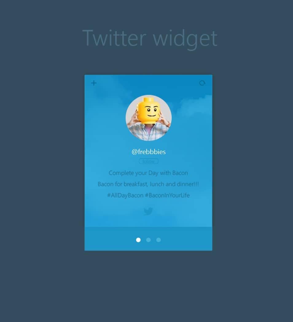 Free Twitter Widget PSD