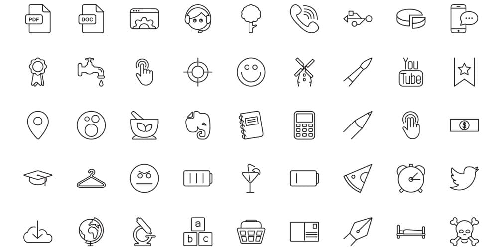 Free Vector Line Icons Set