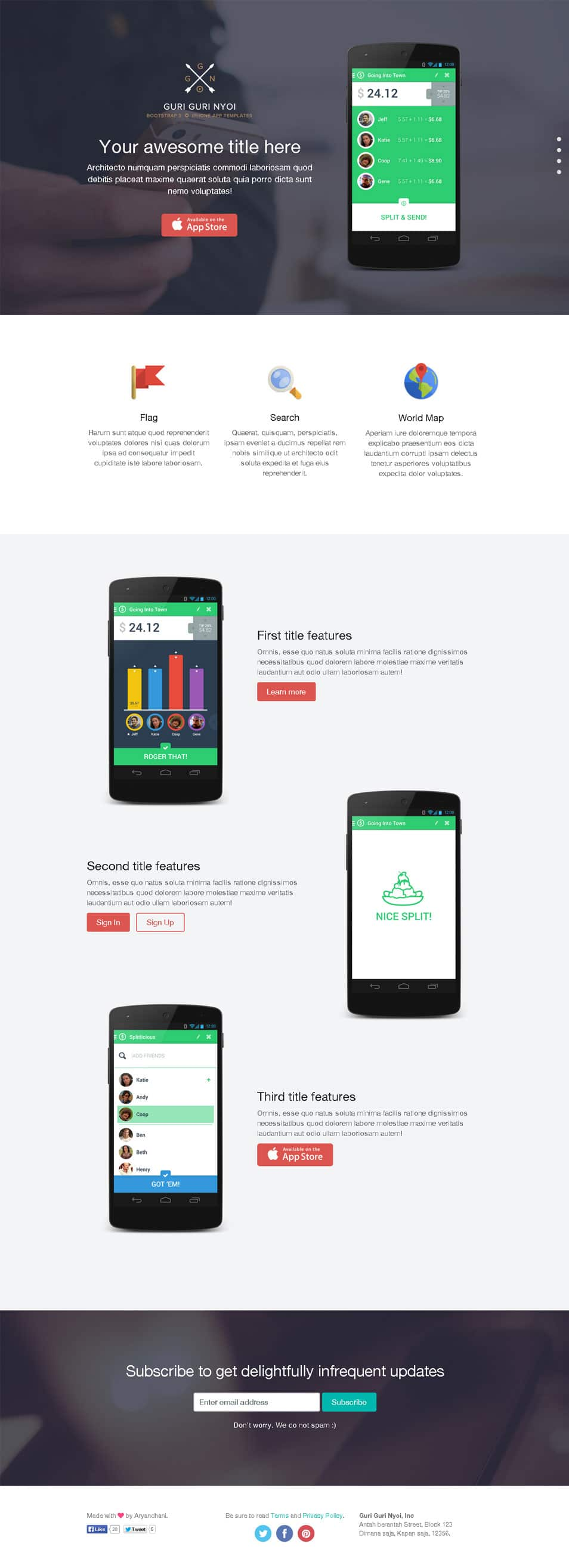 Single Page Html Templates. jewelery one page html template free ...
