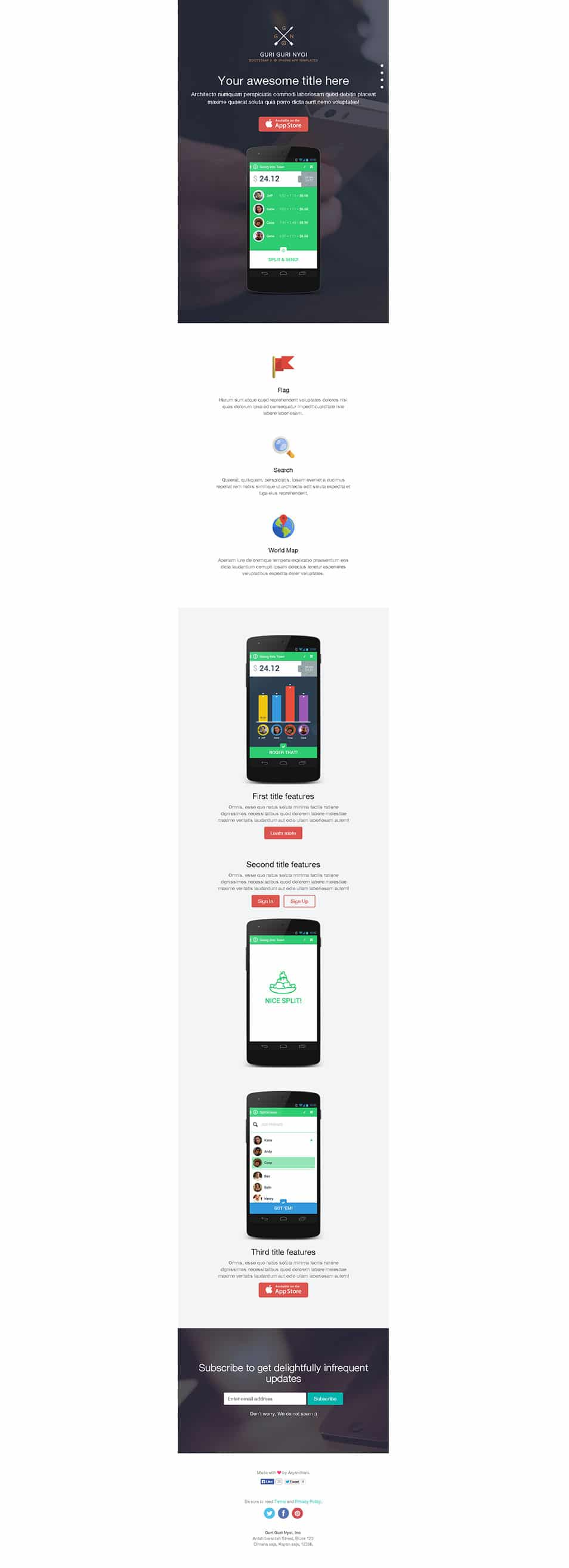 Bootstrap 3 Single Page Template › Free Html Template » CSS Author