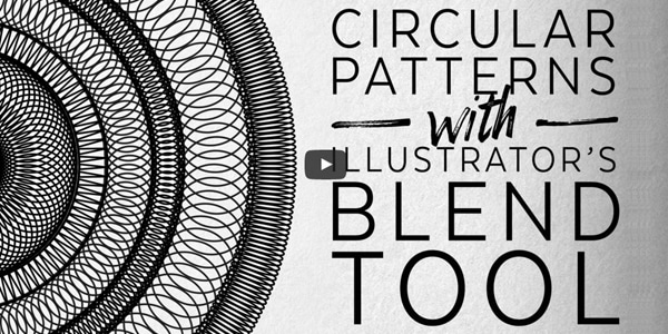 How To Create Circular Patterns with the Blend Tool in Adobe Illustrator