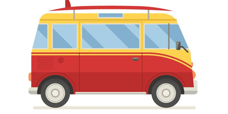 How to Create a Side View Surfing Van in Adobe Illustrator