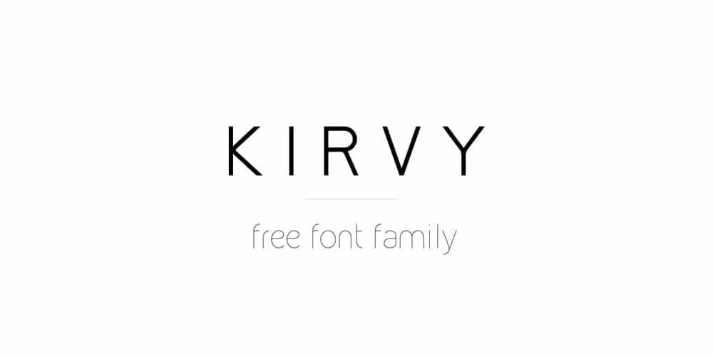Kirvy Free Font Family