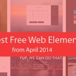 Latest Free Web Elements from April 2014