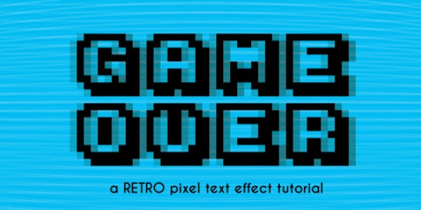 Old Video Game Pixel Text Effect