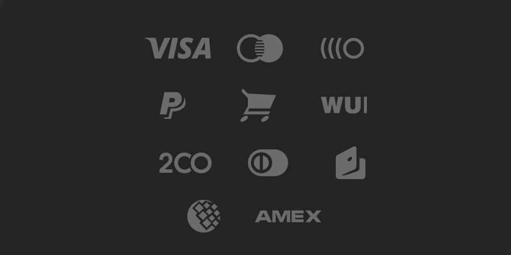Payment Gateway Icons PSD