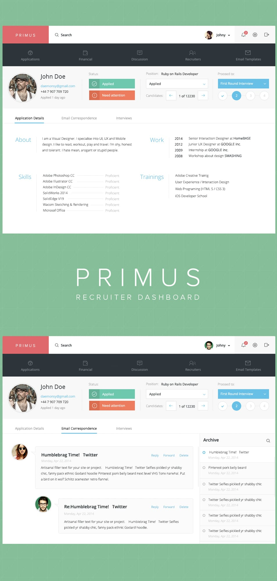 Primus Dashboard PSD