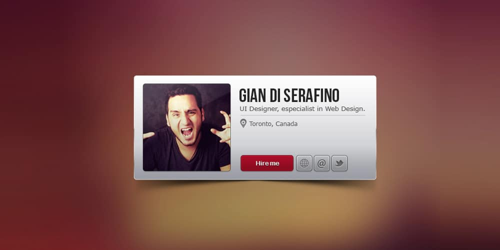 Profile Widget Free PSD