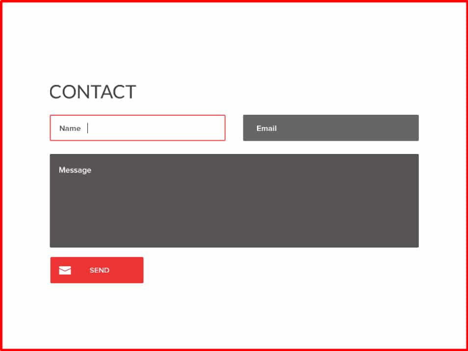 Quick Contact Form PSD