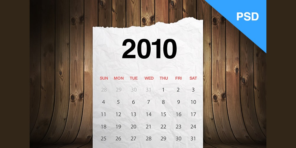 Realistic Calendar PSD