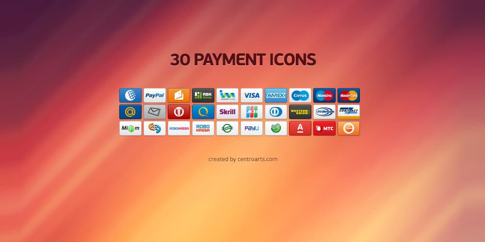 Small and Clean Payment Icon Set