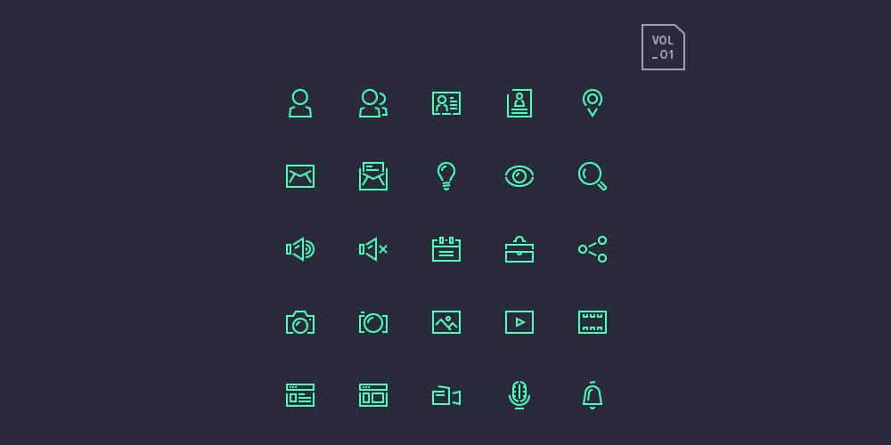 Stroke Gap Icons Set