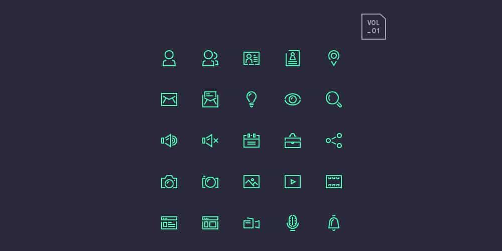 Stroke Gap Icons Set