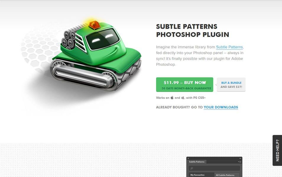 Subtle Patterns Photoshop Plugin