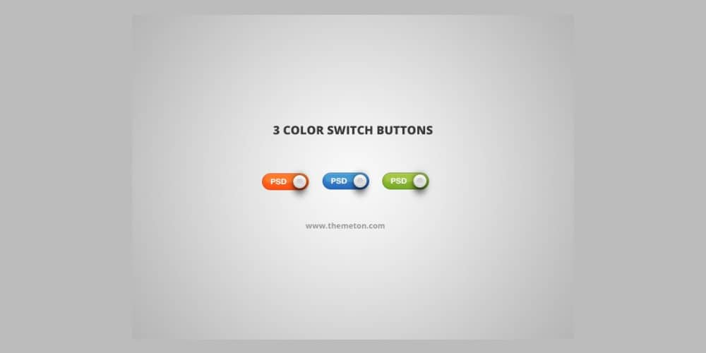 Switch Button PSD