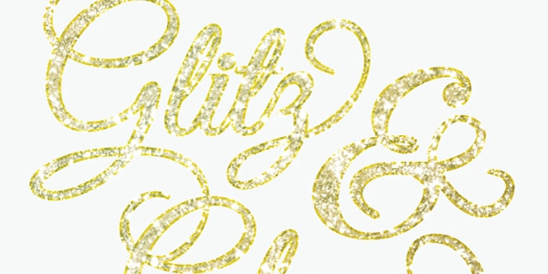 The Best Way to Build a Party Invitation With Glitter Text