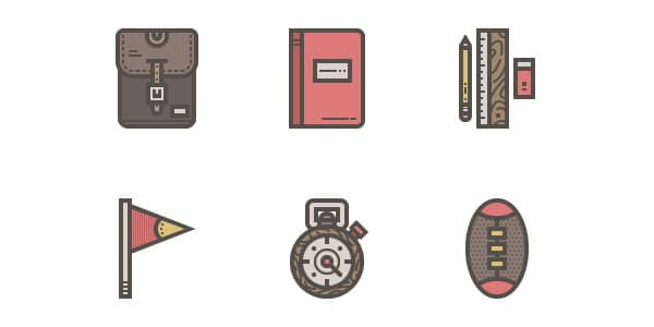 The way to Create a Vintage High-School Icon Pack in Adobe Illustrator