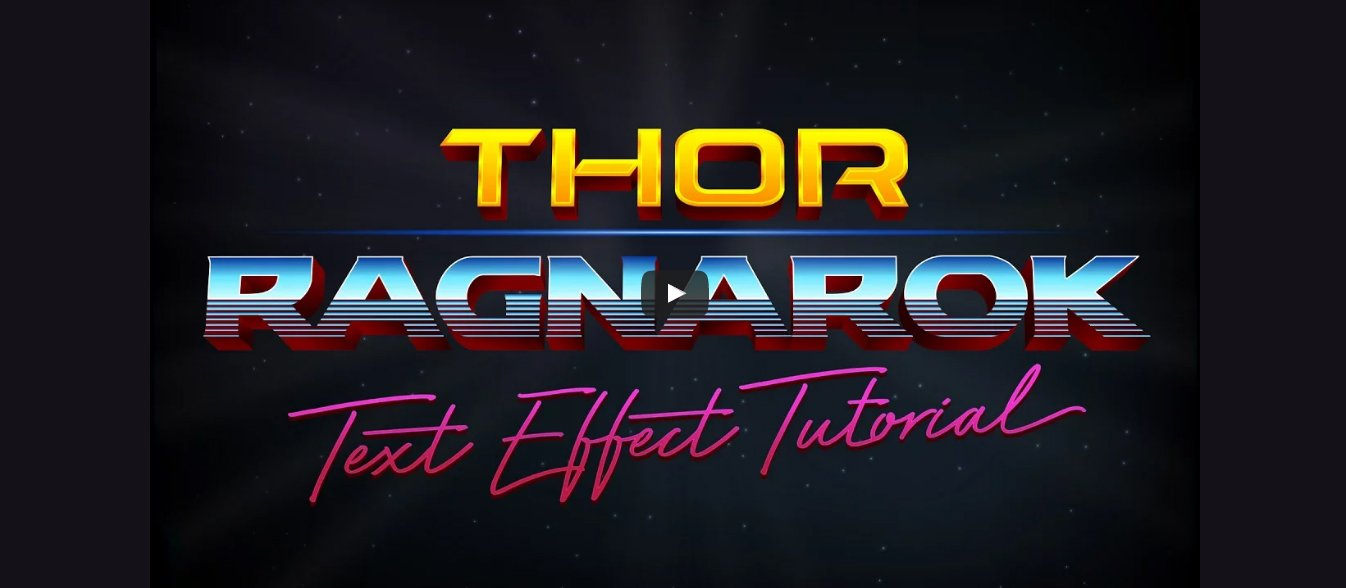 Thor Ragnarok Style Text Effect in Illustrator