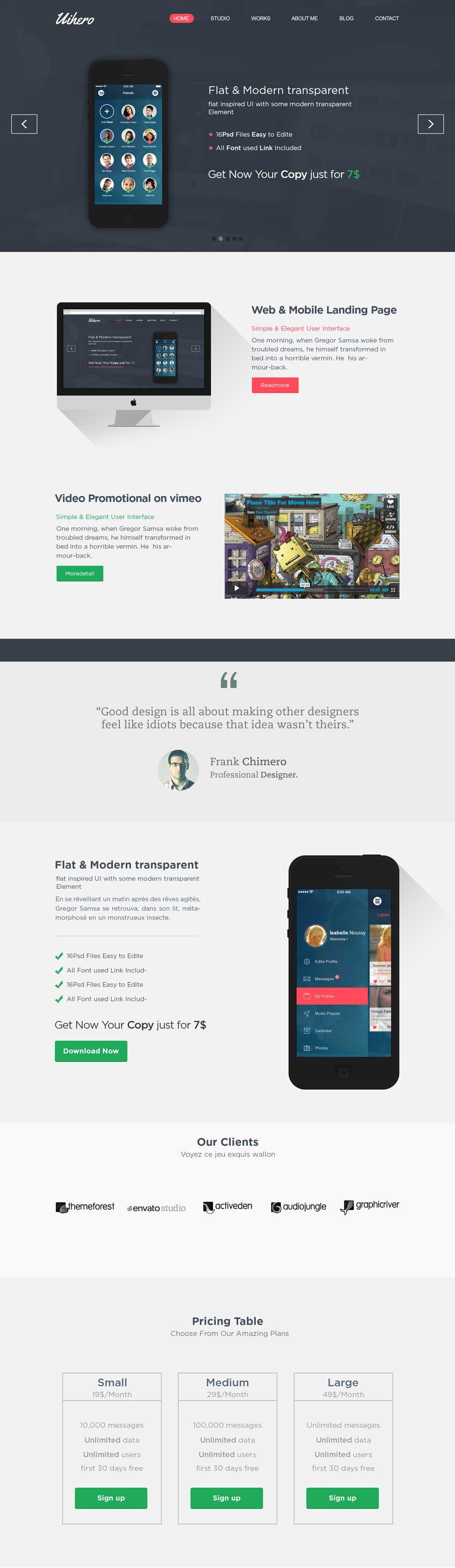 Uihero-–-Free-PSD-website-template