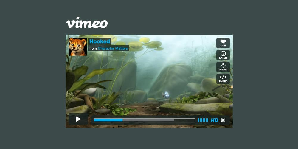 Vimeo Player PSD