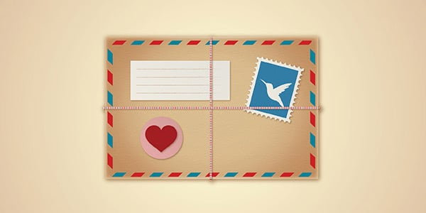Vintage Love Envelope