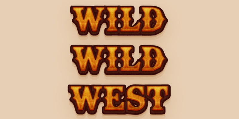 Western Text Effect