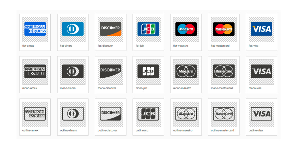 Credit Card Provider Icons