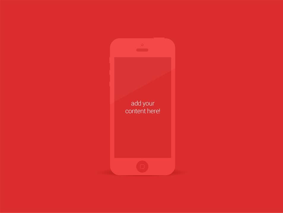 iPhone 5 Minimalist Mockup