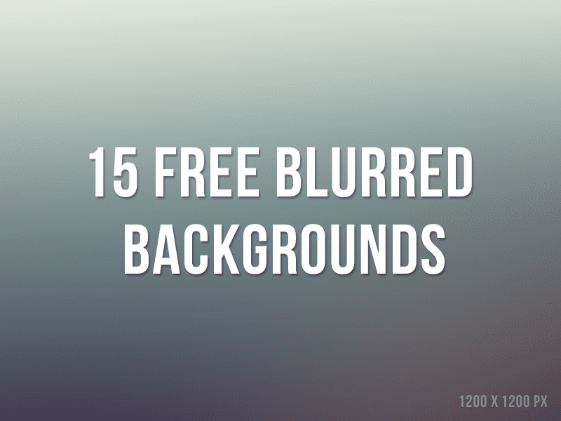 15 Free Blurred Backgrounds