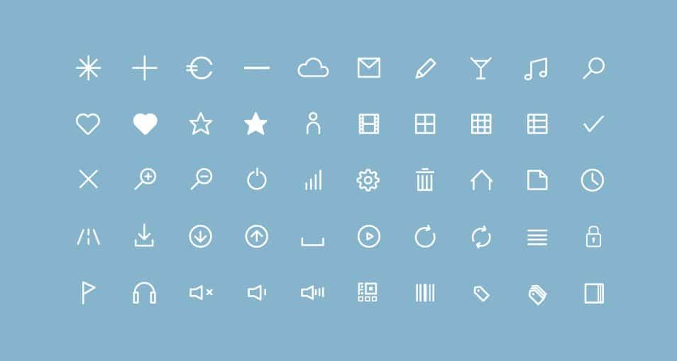 50-Free-Flat-Line-Icons-Webfont