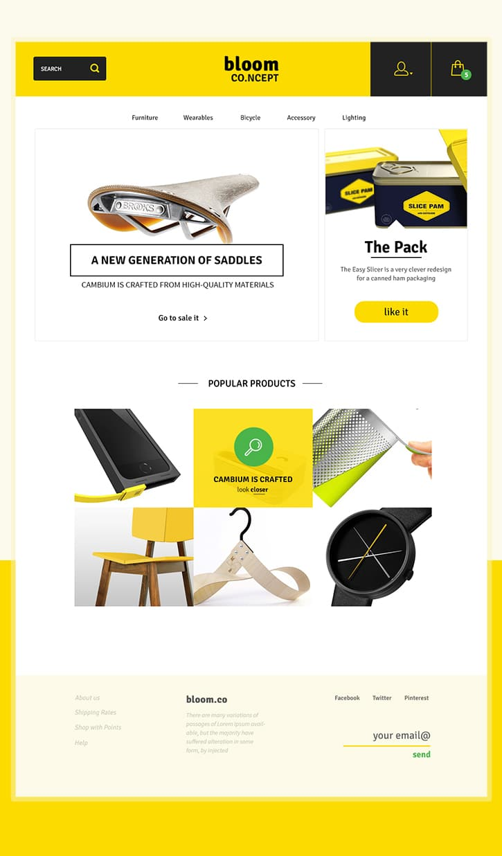 Bloom E-Commerce Theme Concept