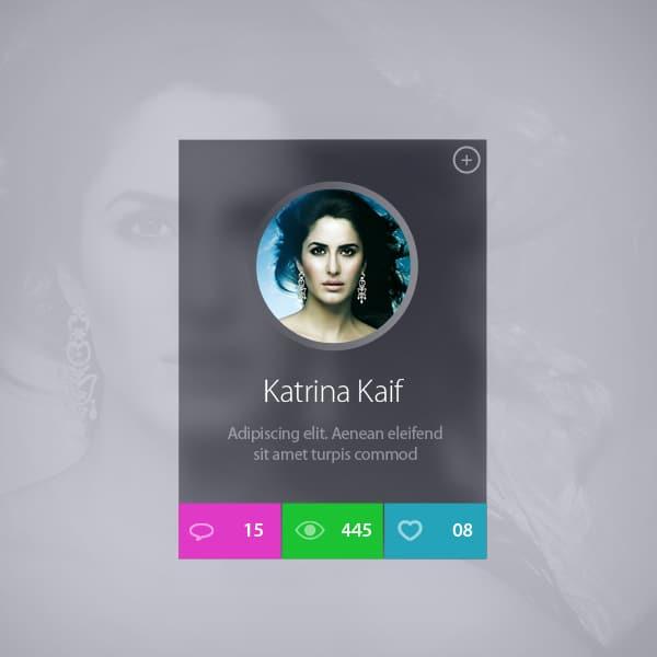 Celebrity-Profile-Widget