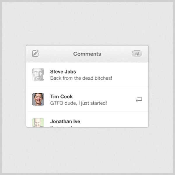 Comments-Widget