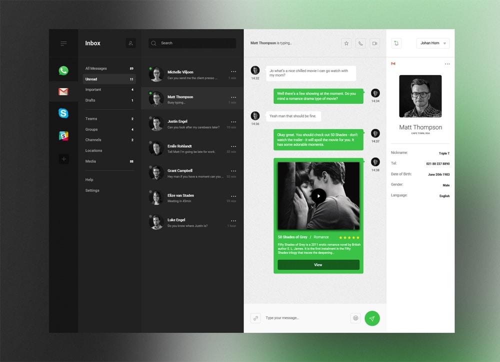 Desktop and Mobile Dashboard UI