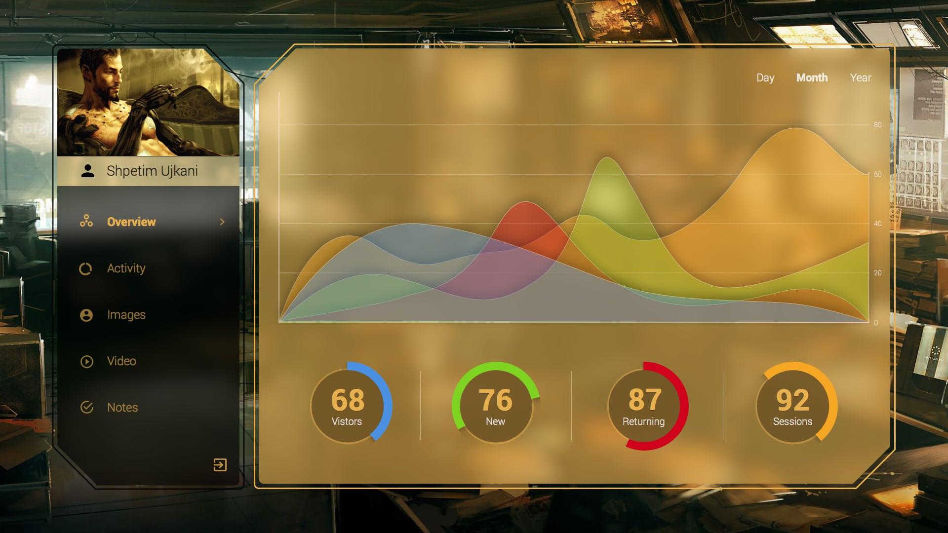 Deus Ex Inspired Dashboard UI