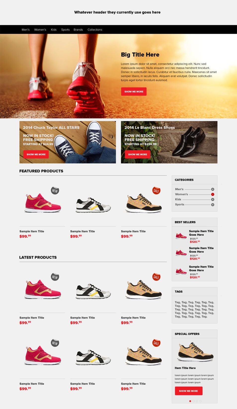Ecommerce Home Page PSD