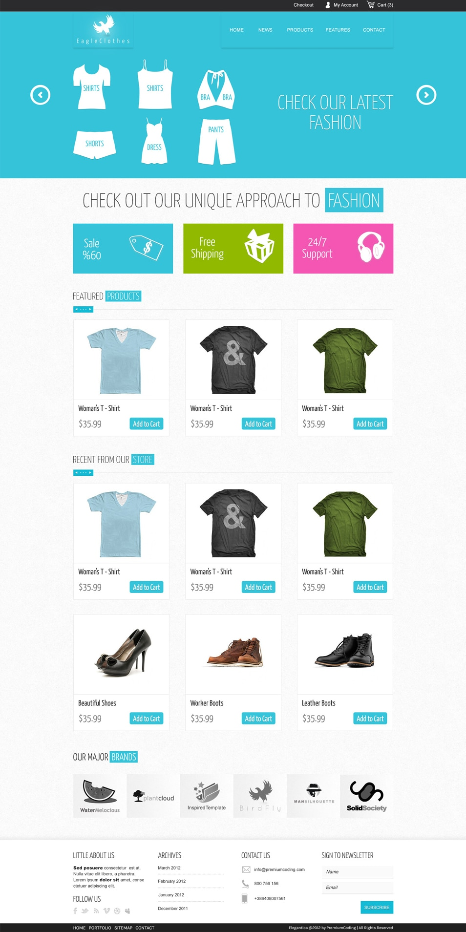 Ecommerce PSD WebsiteTemplate