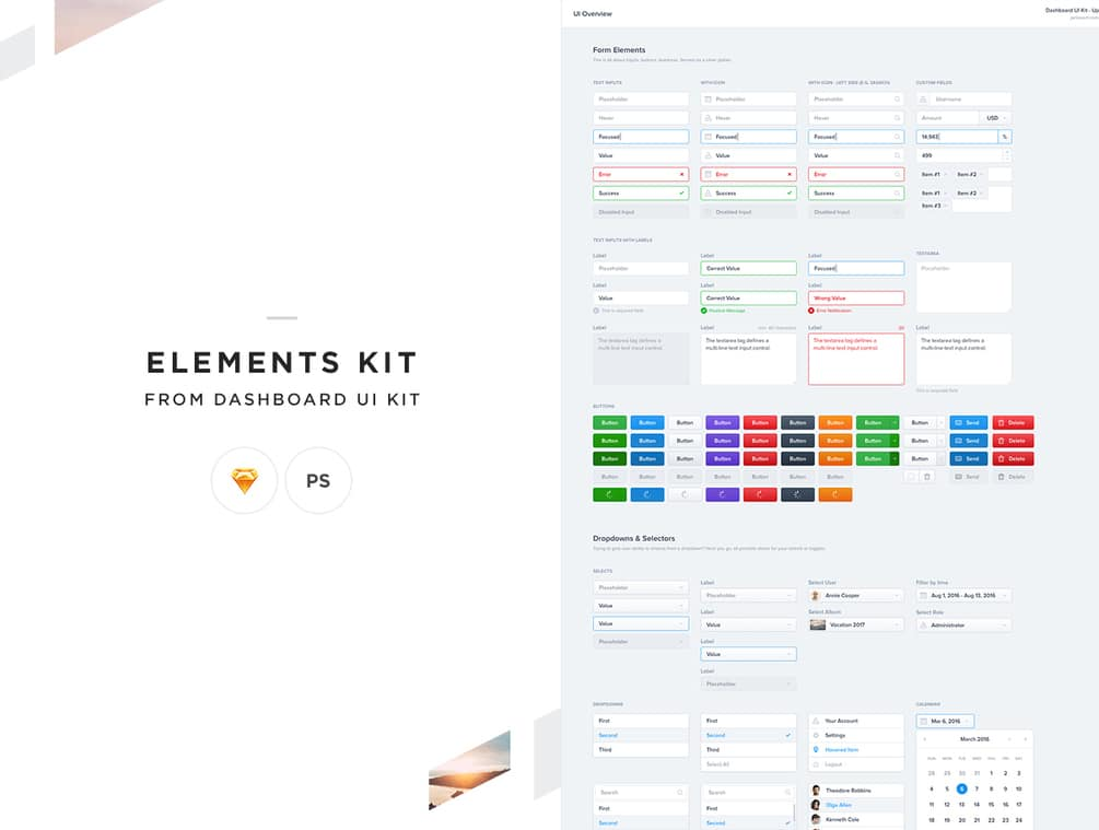 Elements Dashboard UI Kit