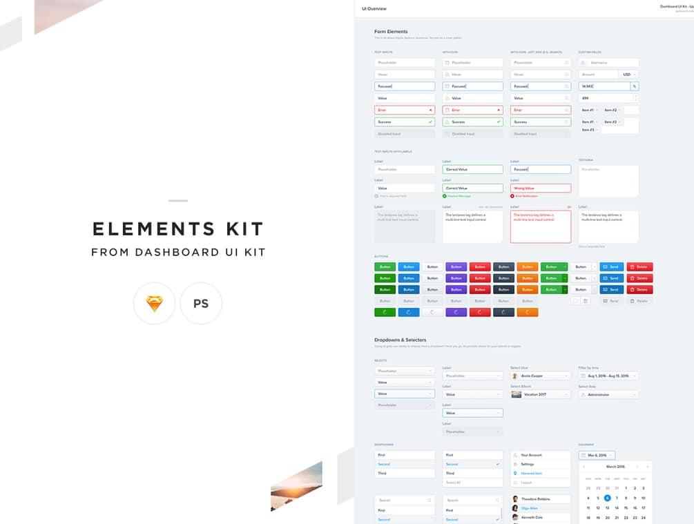 Elements Dashboard UI Kit