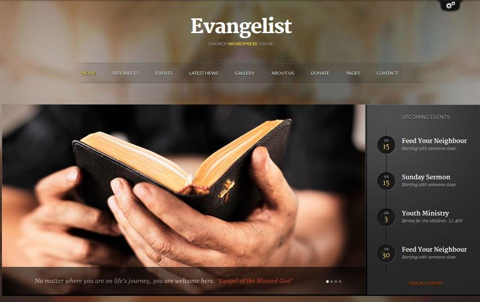 Evangelist – Church WordPress Theme