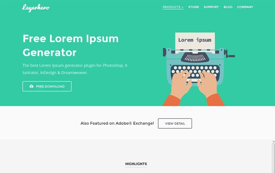 Free Adobe Lorem Ipsum Generator