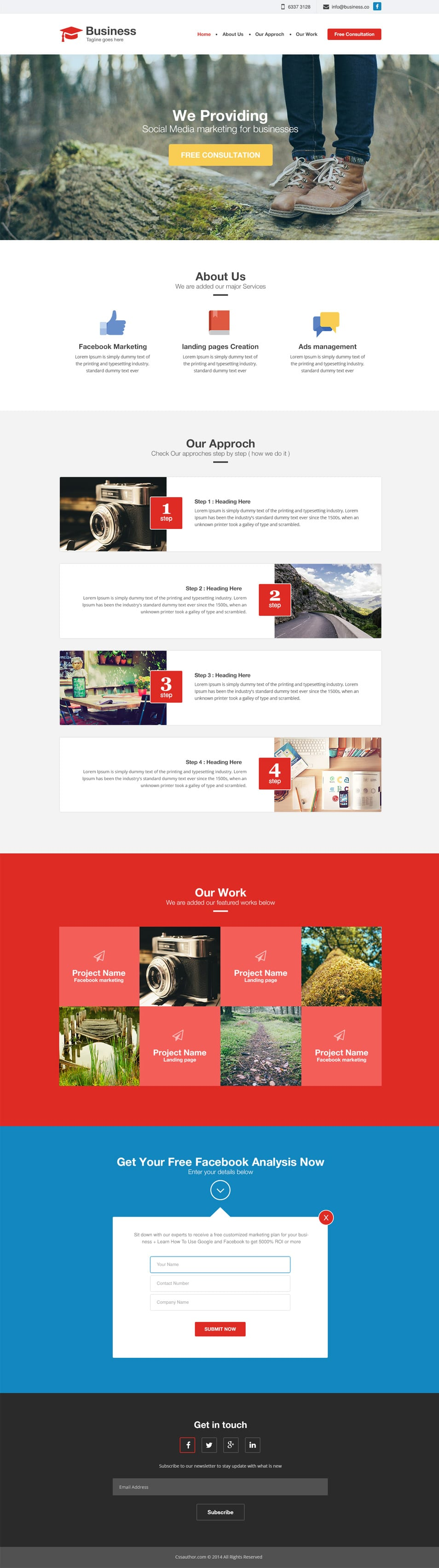 Free Agency - Business Website Template PSD_cssauthor.com