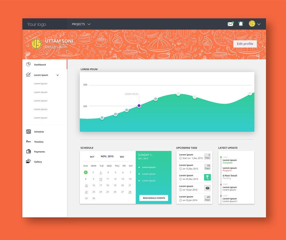 Free Dashboard Design PSD