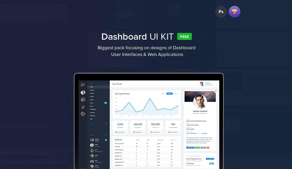 Free Dashboard UI Templates