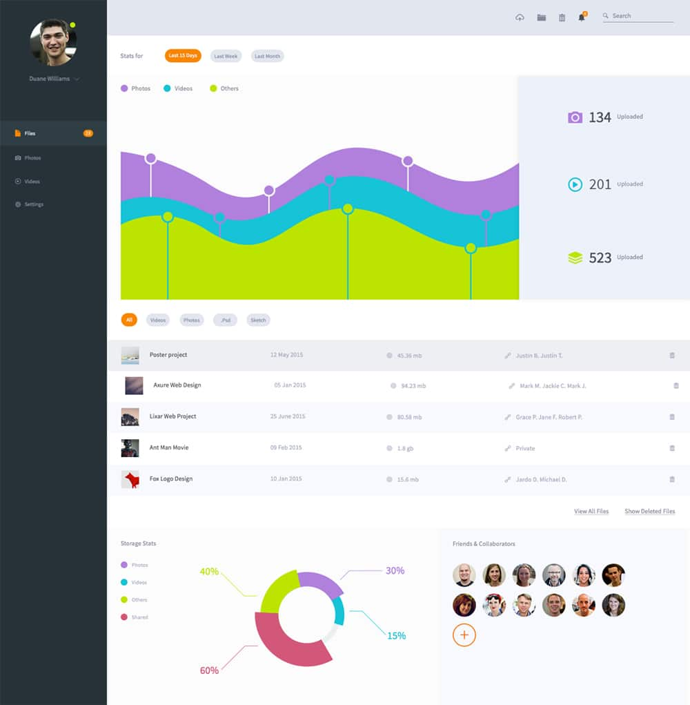 Free File Dashboard UI PSD