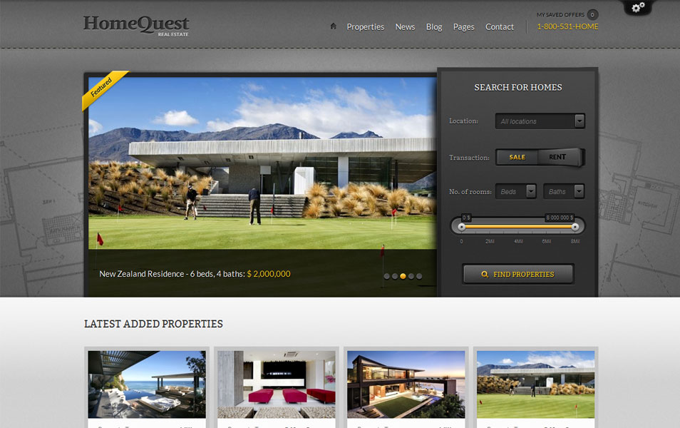 HomeQuest - Real Estate WordPress Theme