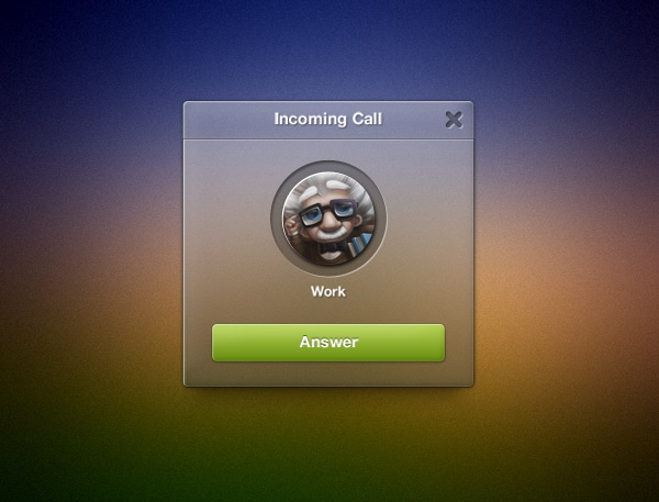 Incoming-Call-Widget