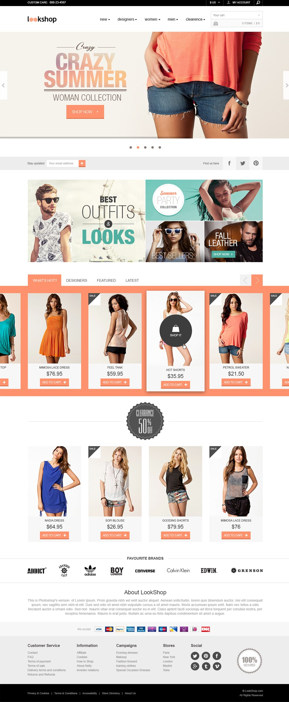 LookShop – E-commerce Responsive Design Template